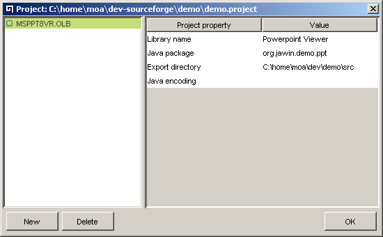 Picture 1: New project dialog